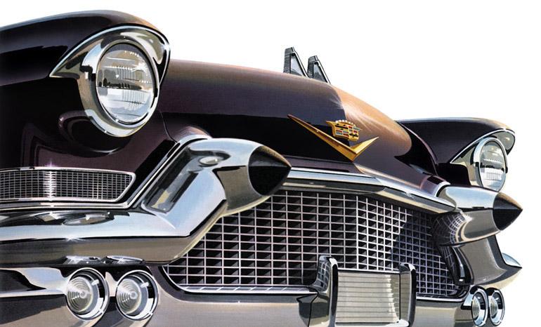 1957 Cadillac artwork