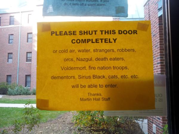 закрывайте дверь