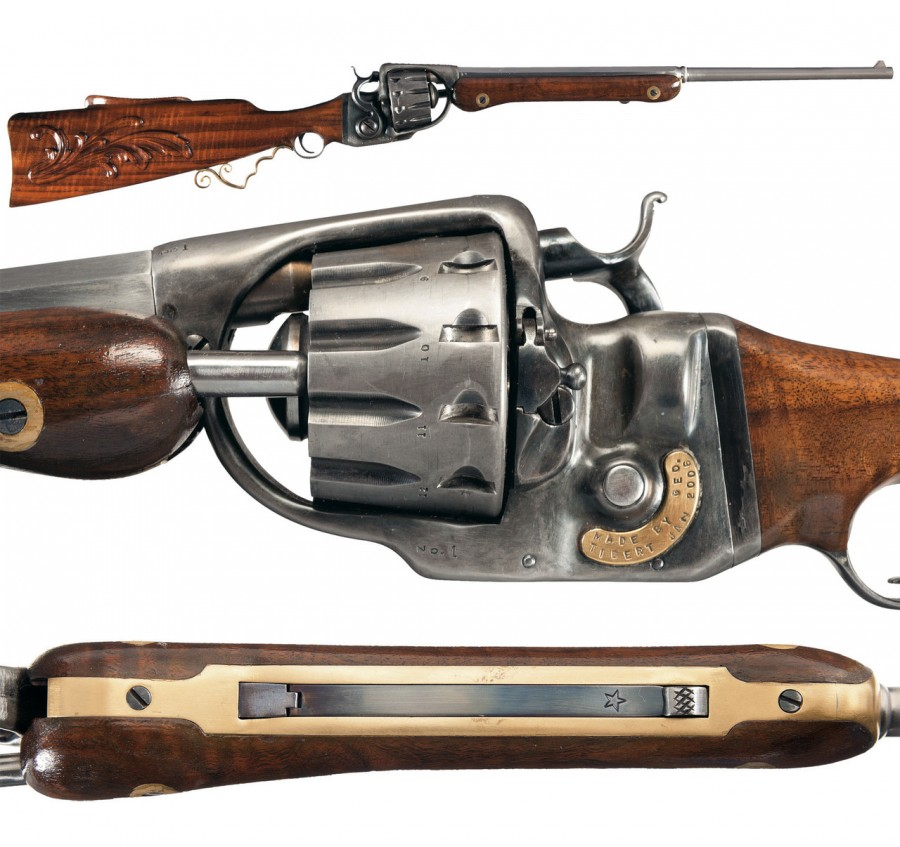 George J Tibert 12 short revolving rifle