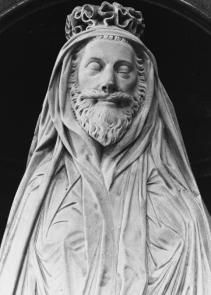 Memorial statue of John Donne in St Paul's Cathedral, London