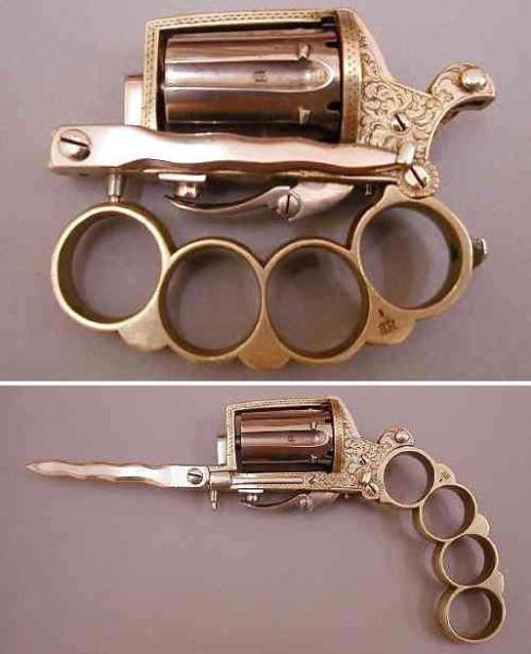 складной револьвер кастет