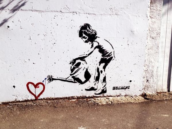 стрит арт с сердечком