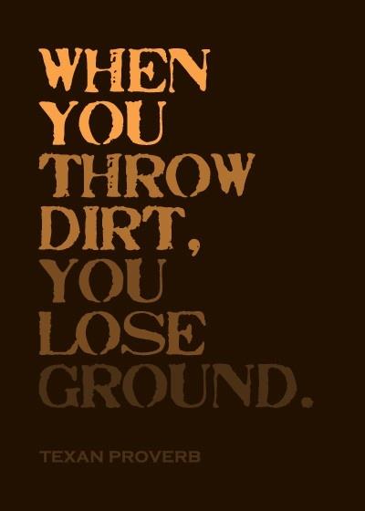 избавляясь от грязи теряешь почву