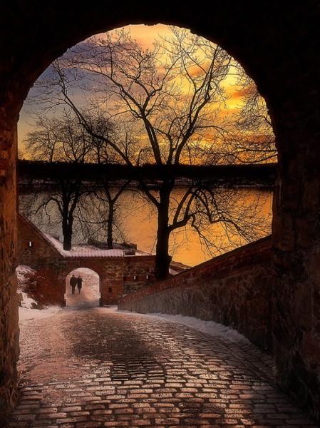 зимний закат в Осло