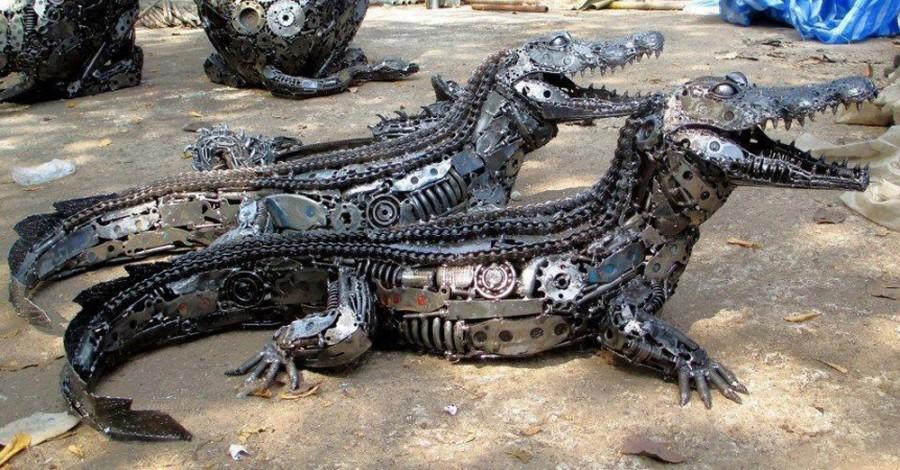 стимпанк крокодилы