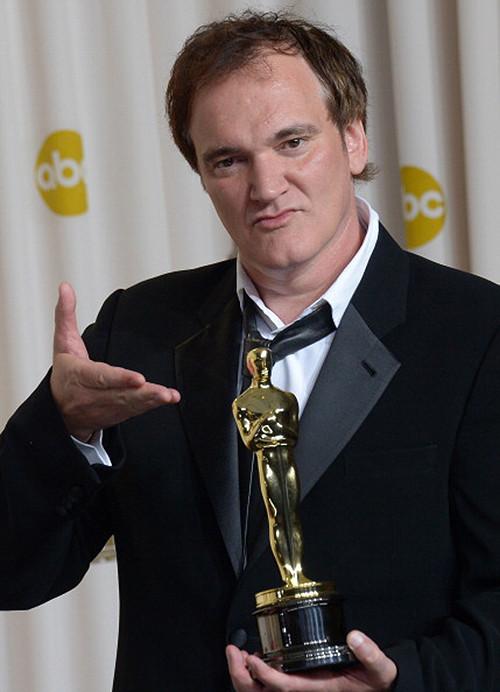 Quentin Tarantino with his Oscar