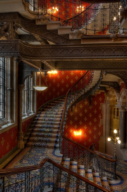 Stairway, St Pancras Hotel, London, England