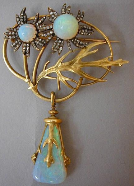 Lalique 1898 brooch