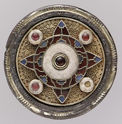 Anglo-Saxon disc brooch from Faversham, England, c. early 7th century