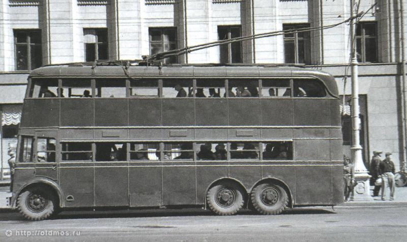 мск Двухэтажный троллейбус
