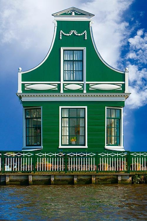 Traditional village house, Zaandam, Netherlands