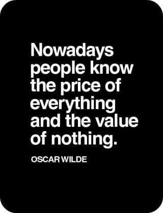 цена всего значение ничего