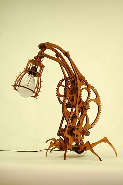 стимпанк лампа