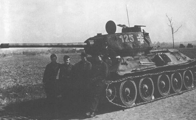 трофейные т-34 4