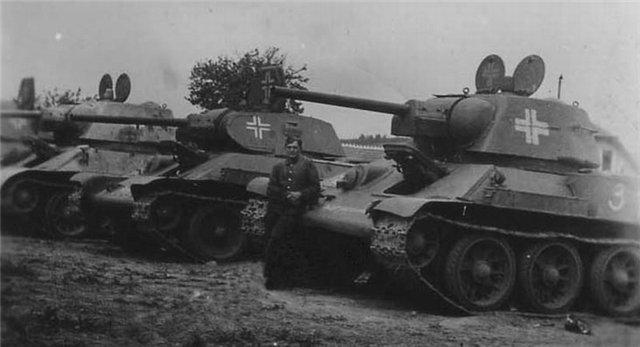 трофейные т-34
