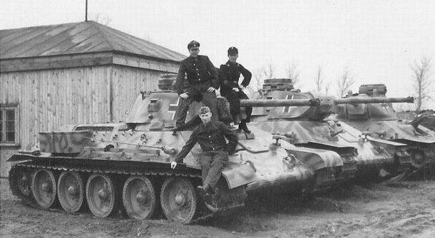 трофейные т-34 2