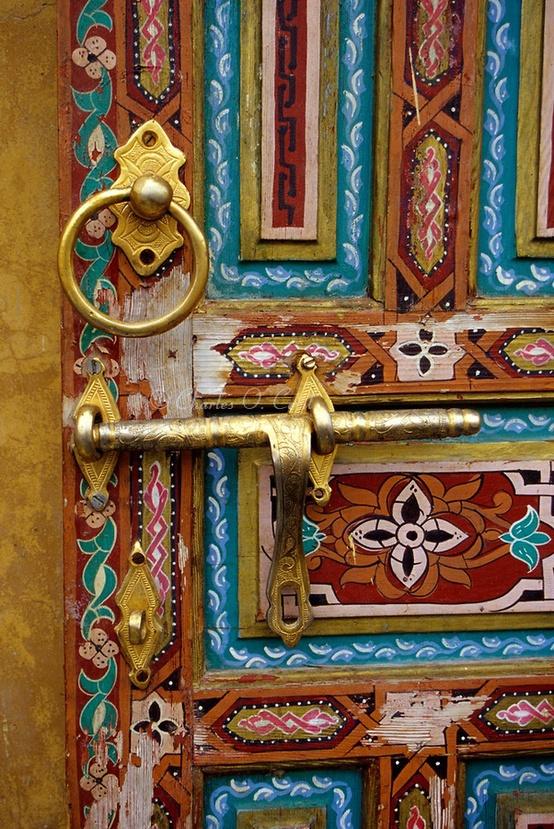 Ornate Door in Fez, Morocco