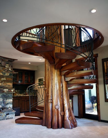 лестница опять спиральная