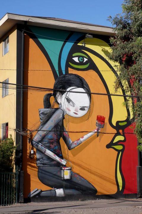 стрит-арт сантьяго де чили