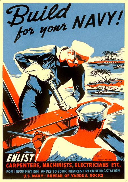 амер флот набирал рабочих