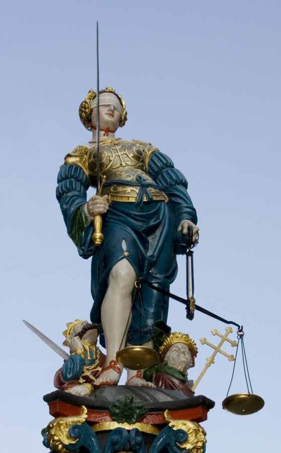 Statue of Lady Justice in Bern, Switzerland, Hans Gieng, 1543