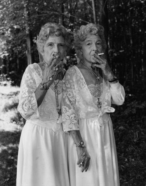 Old Twin Prostitutes, Mary Ellen Mark