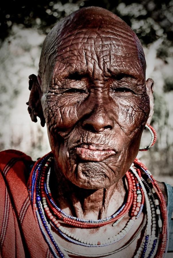 старуха племени Самбуру Сев Кения