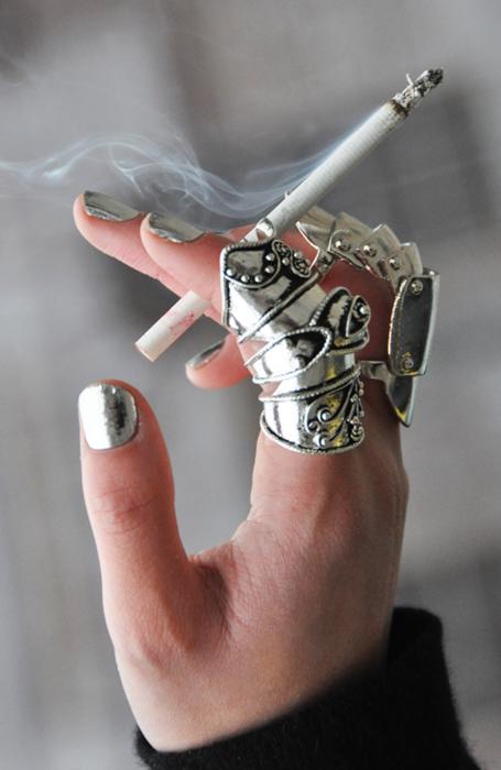 серебро и сигарета