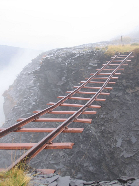The abandoned railway of Dinorwig, Wales