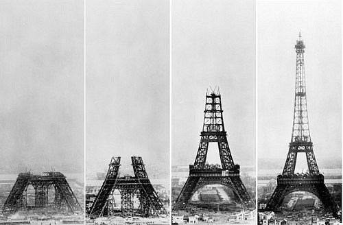 Construction of the Eiffel Tower (1887-1889)