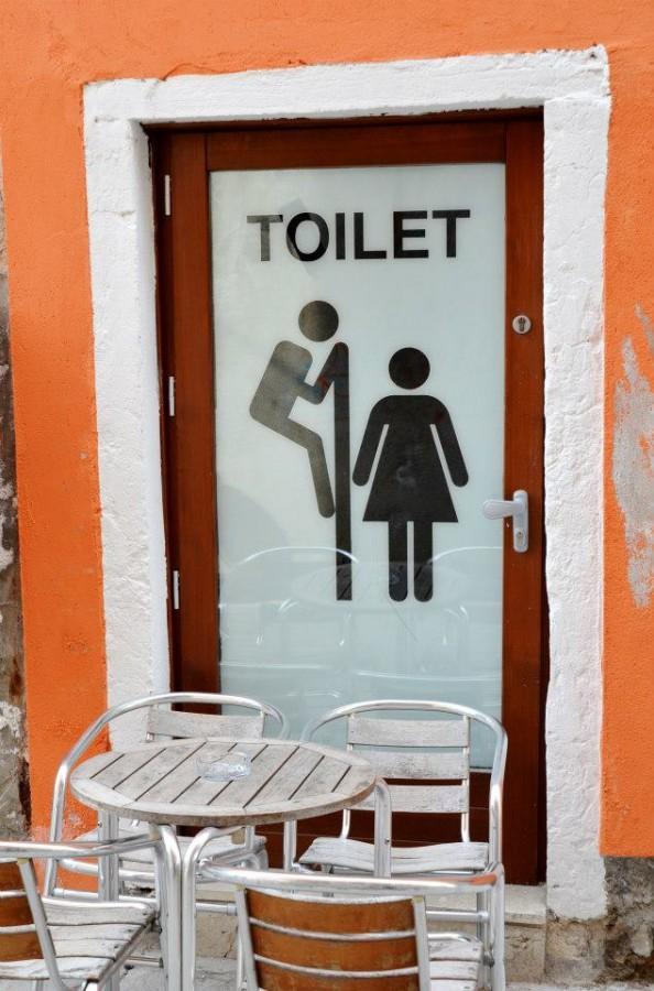 Toilet in Venezia, Italy