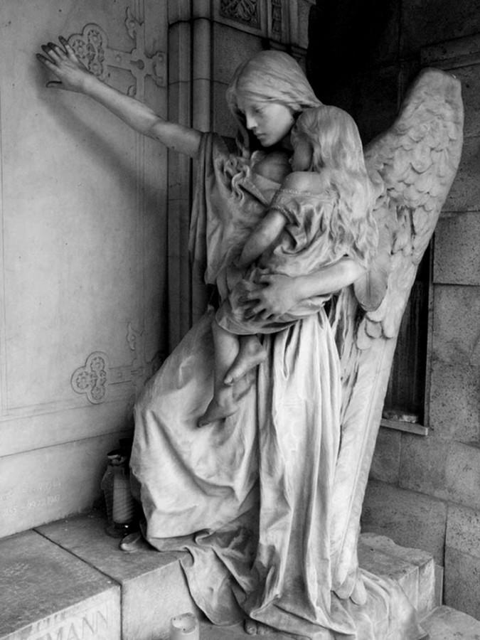 Angel statue in Slovenia