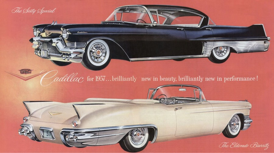 Advertisement for the 1957 Cadillac Sixty Special