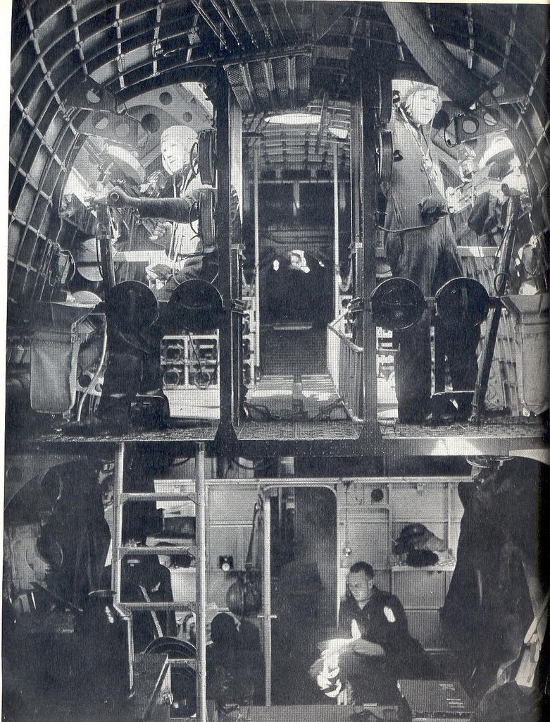 The scene inside a Sunderland Flying-boat of the RAF.