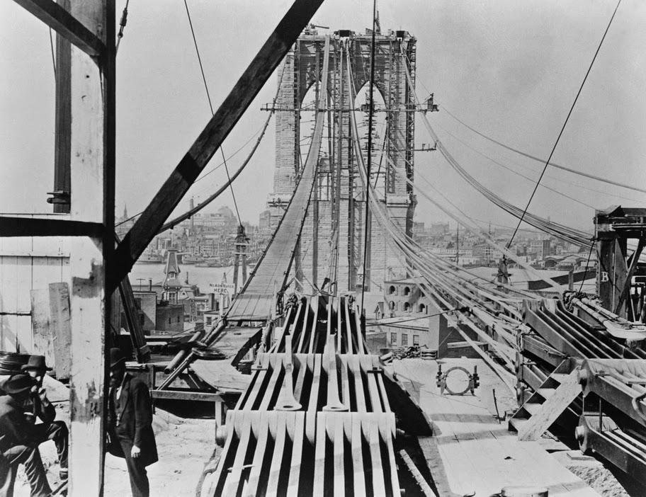 строительство Бруклинского моста 1875-1878