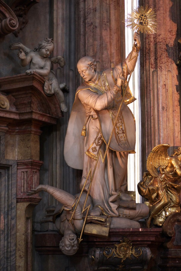Св Игнаций Лойола разит ересь Прага
