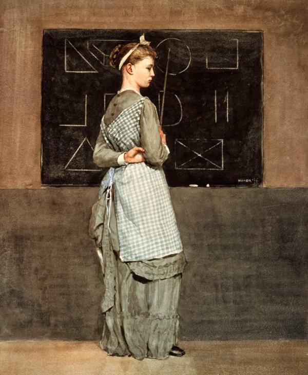Winslow Homer, у доски, 1877