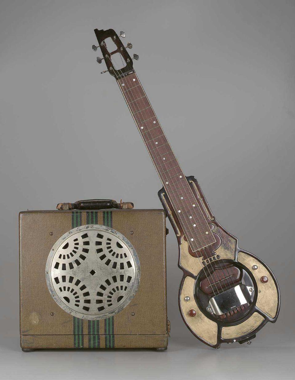 steel guitar and ampliflier, 1936