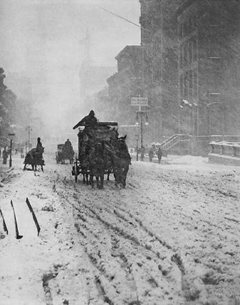 Winter on Fifth Avenue, New York 1893