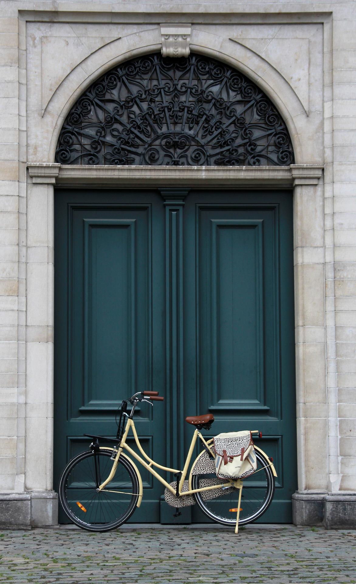 дверь и велосипед