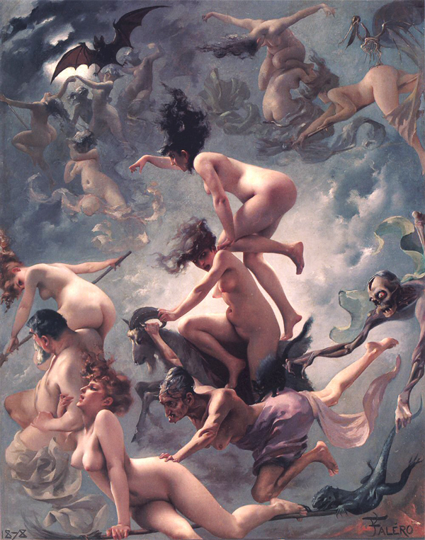 Departure of the Witches by Luis Ricardo Falero (1878)