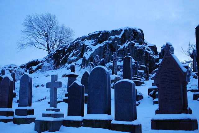 старое кладбище зимой 2