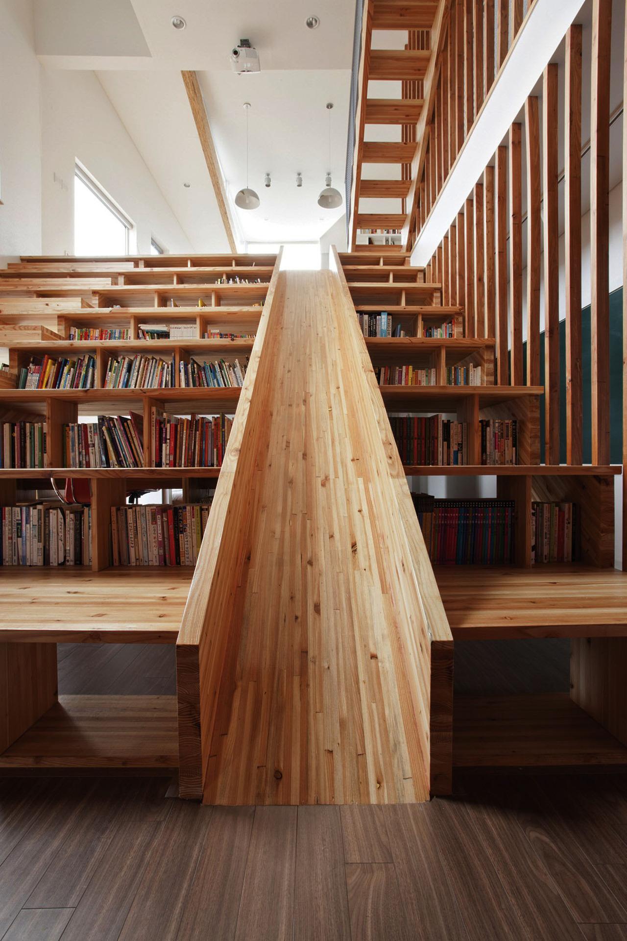библиотека с горкой