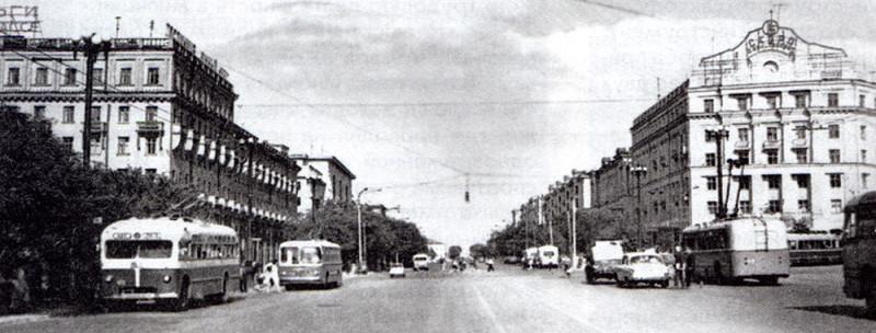 вид на проспект Ленина 60-е годы.