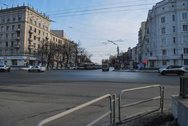 перекресток Свободы и пр.Ленина март-апрель 2019г.