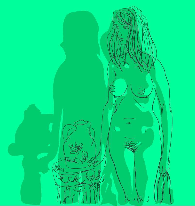Девушка с полотенцем IV
