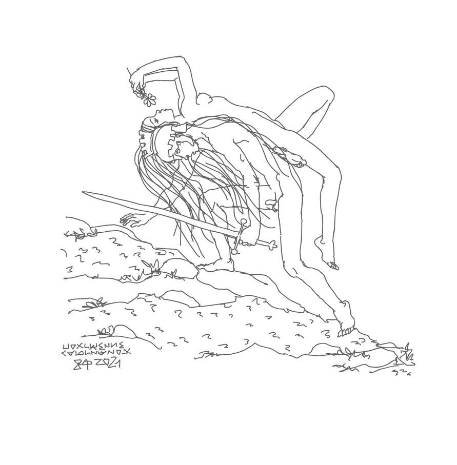 """""""Похищение сабинянок"""",2021, Ai+Intuos"""