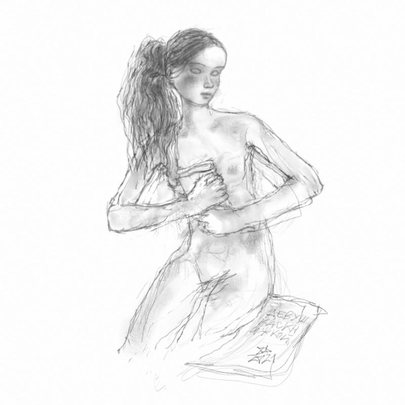 """""""Девушка с книжкой"""", Ar+Intuos"""