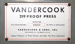 Vandercook - 300