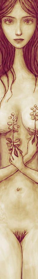[2wx] Девушка с двумя цветками A056 - 950